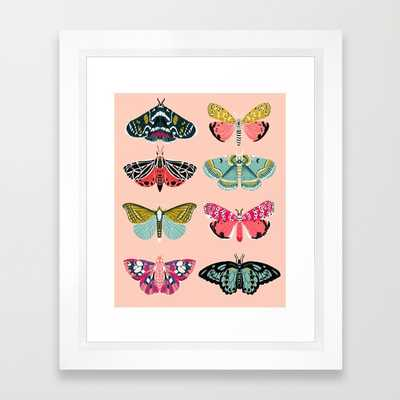 "Lepidoptery No. 1 by Andrea Lauren- 10"" X 12""- Vector White frame - Society6"
