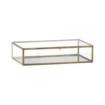 Clarus Large Brass Glass Display Box - Crate and Barrel