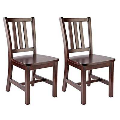 Set of 2 Espresso Parker Play Chairs 1 - Land of Nod