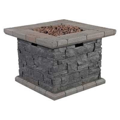"Capitol Peak 24"" Faux Stone Propane Fire Pit Table - Target"