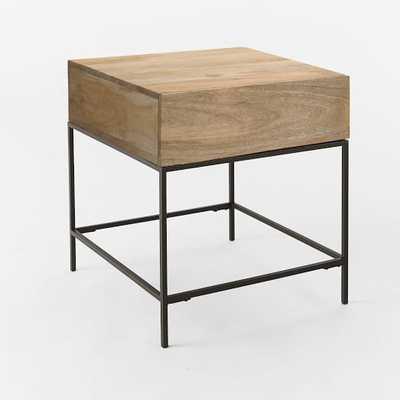 Industrial Storage Side Table - Raw Mango - West Elm
