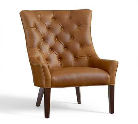 Hayes Tufted Leather Chair - Pottery Barn