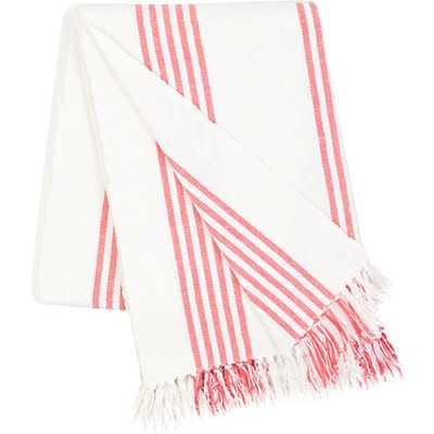Ibiza Cotton Throw Blanket - Coral - Wayfair