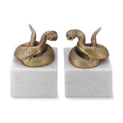 Snake Bookends, Set of 2 - Williams Sonoma Home