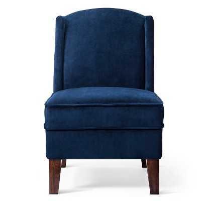 Modified Wingback Chair - Blue velvet - Target