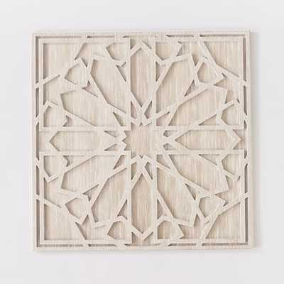 "Whitewashed Wood Wall Art- Individual- 47.5""sq. x 1""d- Unframed - West Elm"