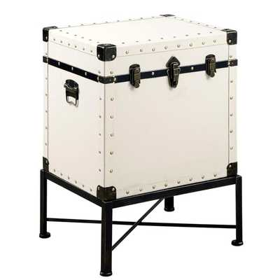 Traveler Design Trunk Style Accent StorageTable with Metal Frame - Overstock