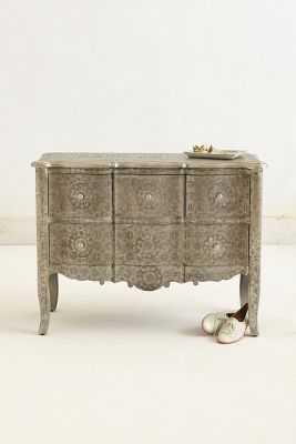 Hand-Embossed Four-Drawer Dresser - Silver - Anthropologie
