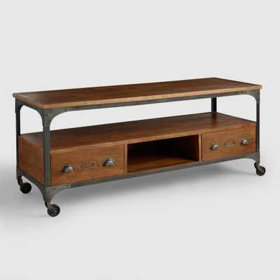 Wood and Metal Aiden Media Stand - World Market/Cost Plus