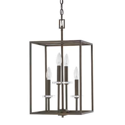 "Morgan 4 Light Foyer Pendant - Burnished Bronze - 22.75"" H x 12"" W - Wayfair"