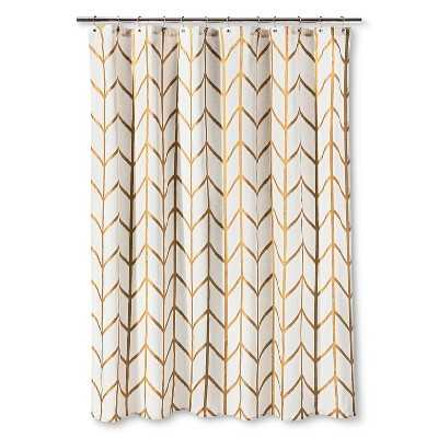Threshold Shower Curtain Gold Ikat - Target