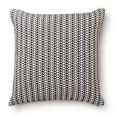 "Woven Triangle Pillow (18x18"") ebony, insert - Target"