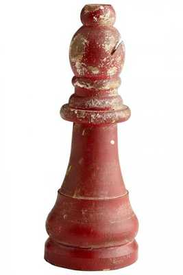 BISHOP CHESS WOOD SCULPTURE - Home Decorators