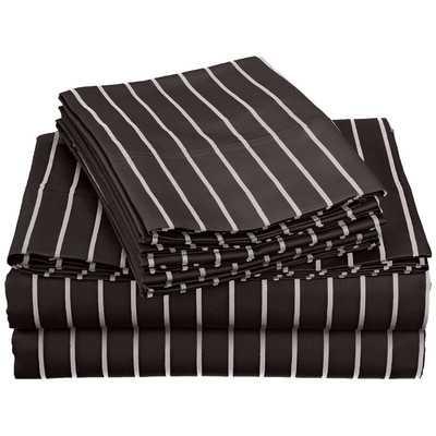 Bahama Cotton Rich 600 Thread Count Sheet Set, Black, California King - Wayfair