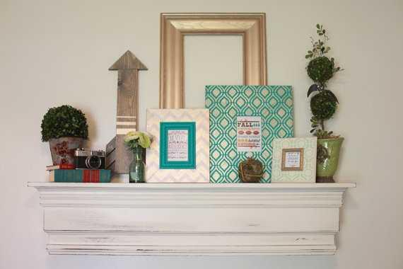 Wood Wall Shelf Mantle- - Etsy