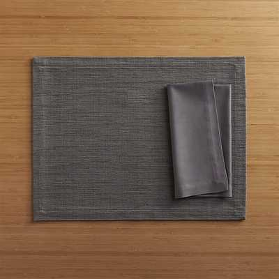 Grasscloth Graphite Placemat - Crate and Barrel