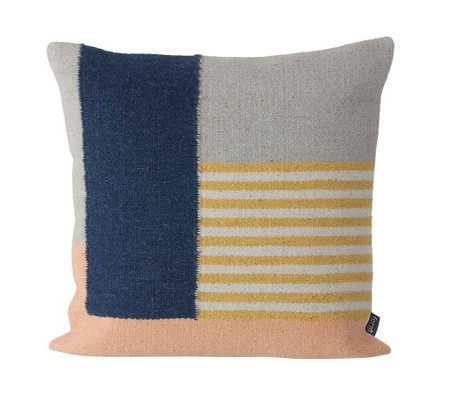 Kelim Cushion - White Lines - Multi - Tressle