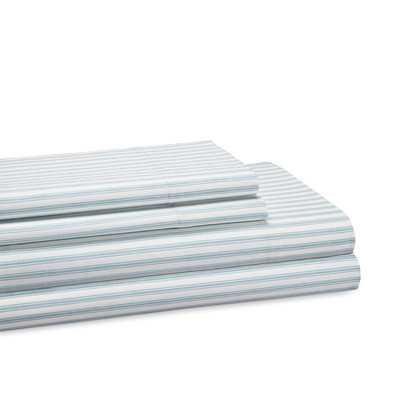 T300 Thread Count 100% Cotton Sheet Set - Blue Haze/Queen - Wayfair