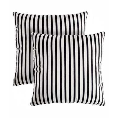"Medford Stripe Cotton Throw Pillow Set of 2 -18""sq. - Polyfill - Wayfair"