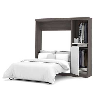 Nebula Full Storage Murphy Bed - Bark Grey & White - AllModern