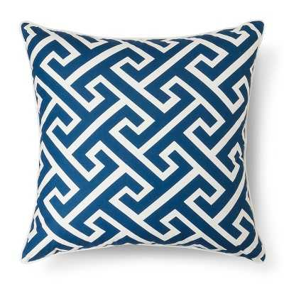 "Oversized Greek Key Throw Pillow – Threshold™ - Navy; 24"" x 24"" (With insert) - Target"