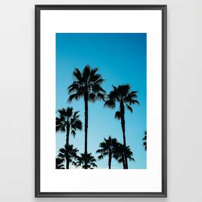 "Palms in Los Angeles - FRAMED ART PRINT/ SCOOP BLACK LARGE (GALLERY) (26"" X 38"") - Society6"