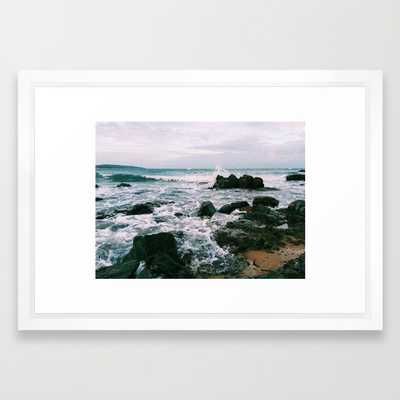 """Queensland, Australia Art Print - Small: 21"""" x 15"""" - Vector White Frame - With mat - Society6"""