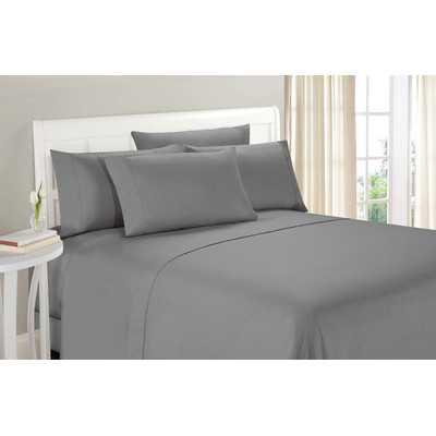 Milinocket Ultra Brushed Sheet Set, Gray, California King - Wayfair
