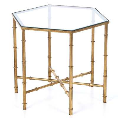 Kerri End Table - Gold / Clear - Wayfair