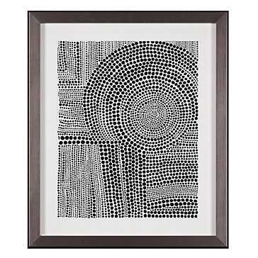 Clustered Dots B  - 26.25''W x 31.75''H - Framed (Pewter) - Z Gallerie