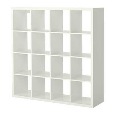 KALLAX Shelving unit, high gloss white - Ikea