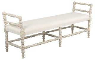 """Anna 60"""" Spindle Bench - One Kings Lane"""