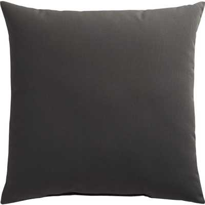"""shadow 20"""" outdoor pillow, grey, poly fill - CB2"""