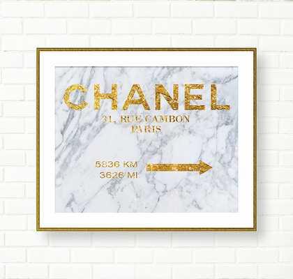 Coco Chanel Art Print - 11x14 - unframed - Etsy