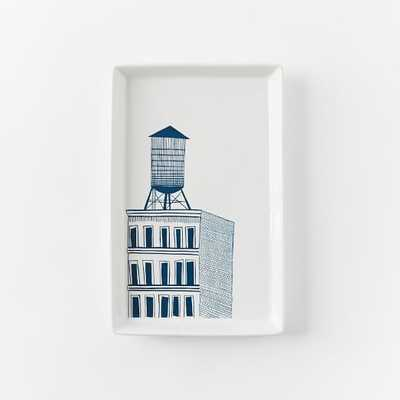 Collector's Editions Plates - Navy Water Tower - West Elm