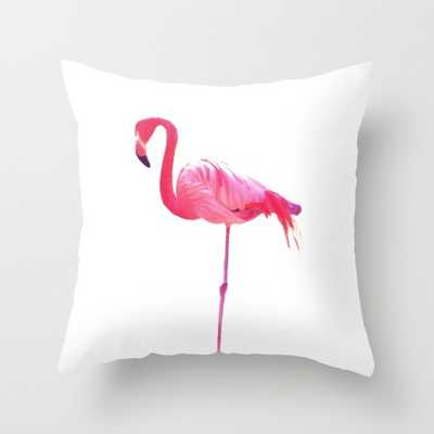 Pink Flamingo Pillow - 18x18, With Insert - Society6