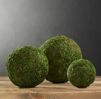 PRESERVED MOSS SPHERES (SET OF 3) - RH