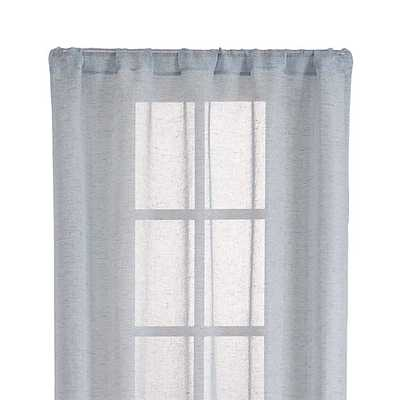 """Lakeside 52""""x108"""" Blue Sheer Curtain Panel - Crate and Barrel"""