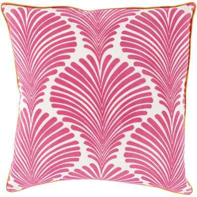 """Cotton Throw Pillow - Hot Pink - 18"""" H x 18"""" W - Polyester Fill - Wayfair"""