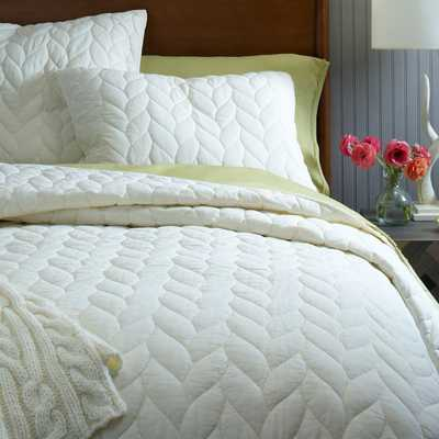 Braided Quilt, King, Ivory - West Elm