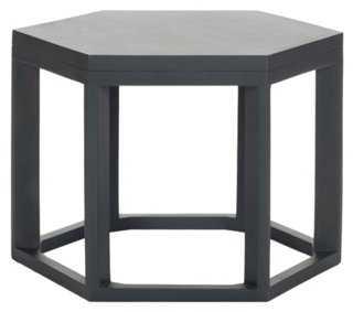 Lenora Side Table, Dark Gray - One Kings Lane