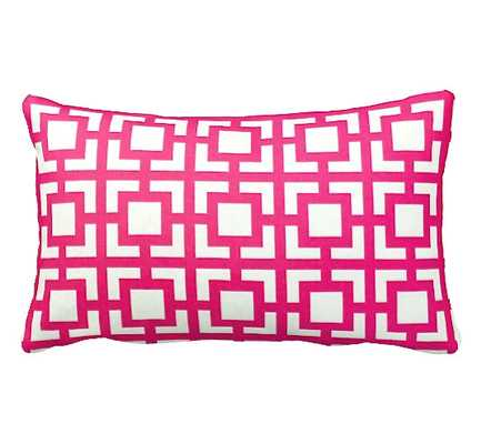 "Pink Throw Pillow - 12"" x 16"" - Insert sold separately - Etsy"