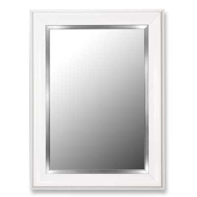 Glossy White Grande / Stainless Liner Framed Wall Mirror - Wayfair