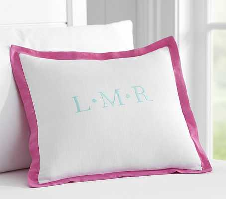 Pop Of Color Personalized Sham - Pottery Barn Kids