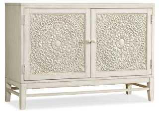 Matisette 2-Door Carved Cabinet - One Kings Lane