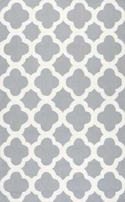 "Homespun Moroccan Trellis Rug-Blue-7' 6"" x 9' 6"" - Rugs USA"