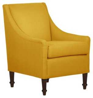 Holmes Chair, French Yellow Linen - One Kings Lane