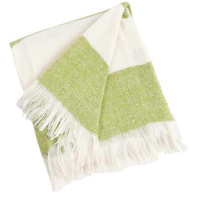 Saro Striped Throw - Lime - Wayfair
