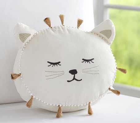 "The Emily & Meritt Decorative Pillows-Sleepy Kitty-10'x11""-Insert sold separately - Pottery Barn Kids"