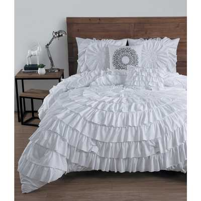 Avondale Manor Sadie Ruffled 5-piece Comforter Set - Queen - Overstock